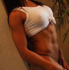 Girl body building